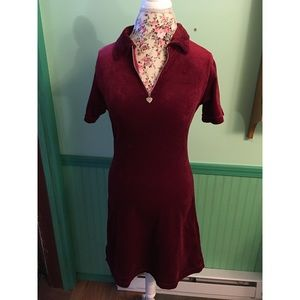 Vintage Us Three Red Velvet Dress So Cute M